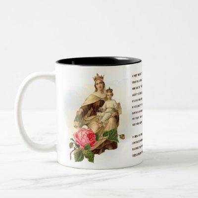Our Lady of Mount Carmel Prayer Jesus Scapular Two-Tone Coffee Mug