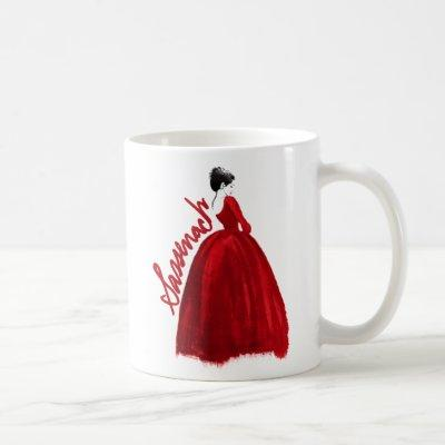 Outlander | Claire In A Red Dress Sassenach Coffee Mug