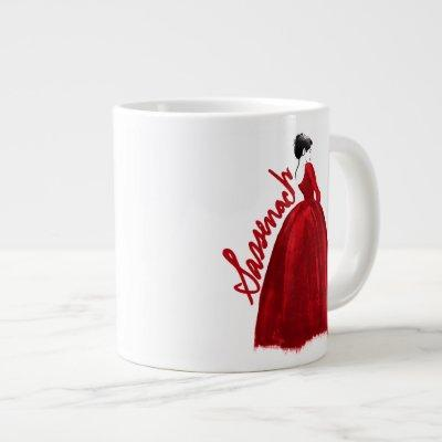 Outlander | Claire In A Red Dress Sassenach Giant Coffee Mug