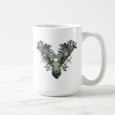 Outlander | Floral Deer Graphic Coffee Mug