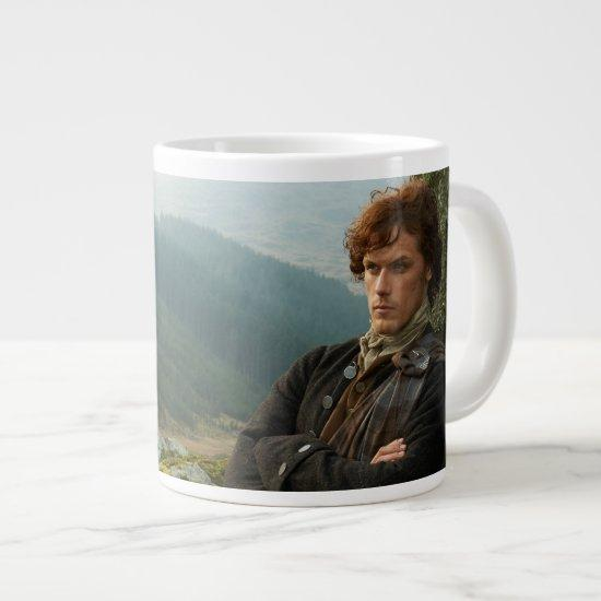 Outlander | Reclining Jamie Fraser Photograph Large Coffee Mug