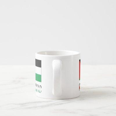 Palestine and Palestinian Flag Espresso Cup
