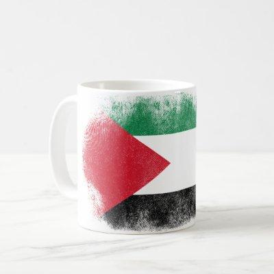 Palestine Flag Souvenir - Distressed Palestinian Coffee Mug