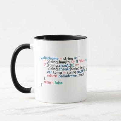 Palindrome Programming Code Snippet Mug