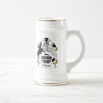 Palmer Family Crest Beer Stein