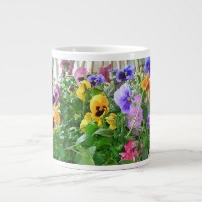 Panoramic Pansies Specialty Mug