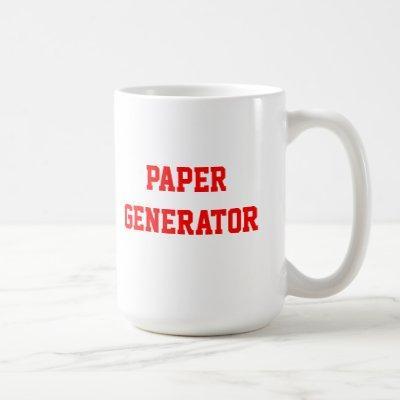 Paper Generator Mug