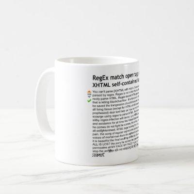 Parse HTML with Regex - Tony The Pony Coffee Mug
