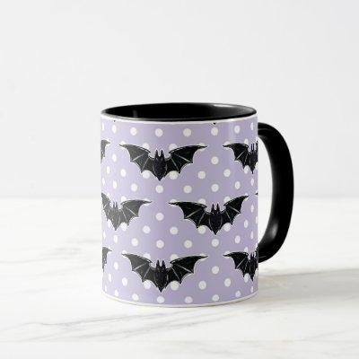 Pastel Goth Spooky Cute Mug Bats Kawaii Fairy Kei