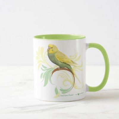 Pastel Green Parakeet Mug