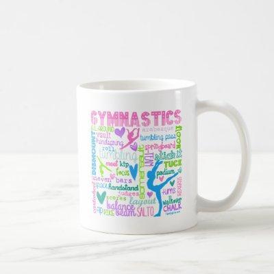 Pastel Gymnastics Words Typography Coffee Mug