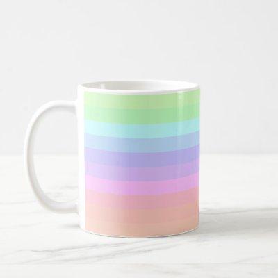 Pastel Power Striped Coffee Mug