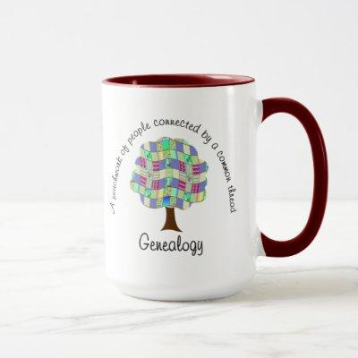 Patchwork Genealogy Mug