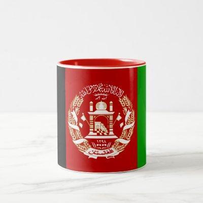 Patriotic Afghanistan Flag Two-Tone Coffee Mug