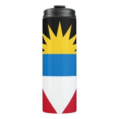 Patriotic Antigua and Barbuda Flag Thermal Tumbler