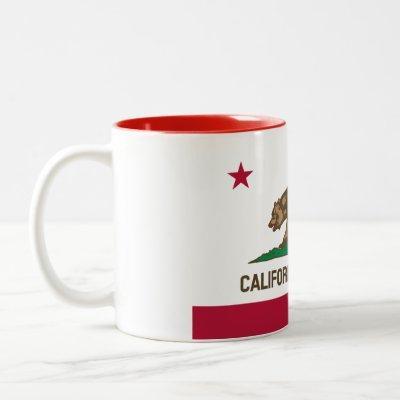 Patriotic California Republic State Flag Two-Tone Coffee Mug