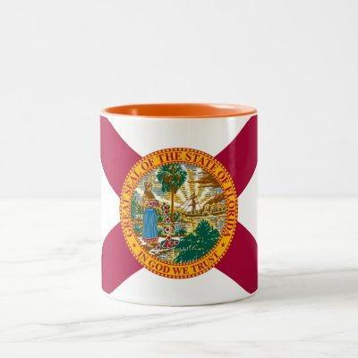 Patriotic Florida State Flag Two-Tone Coffee Mug