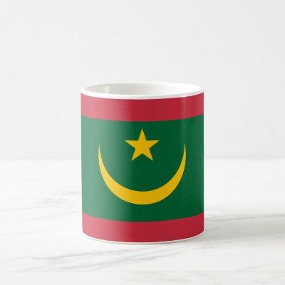 Patriotic Mauritania Flag Coffee Mug
