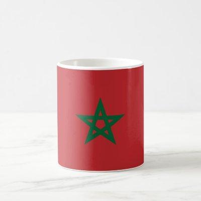 Patriotic Morocco Flag Coffee Mug