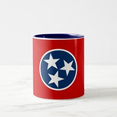 Patriotic Tennessee State Flag Two-Tone Coffee Mug