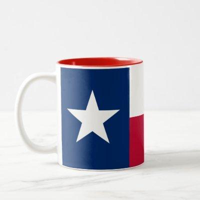 Patriotic Texas State Flag Two-Tone Coffee Mug
