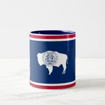 Patriotic Wyoming State Flag Two-Tone Coffee Mug