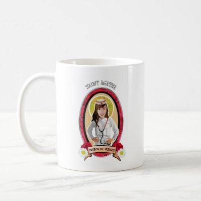 Patron Saint of Nurses St. Agatha icon mug