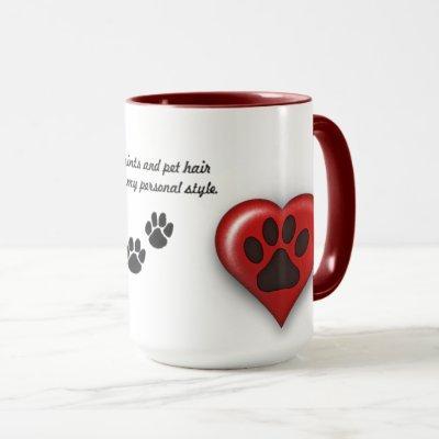 Paw Prints and Pet Hair Mug