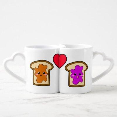 PB & J Lovers' Mugs