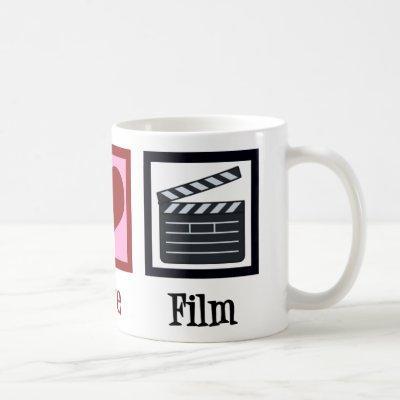 Peace Love Film Coffee Mug