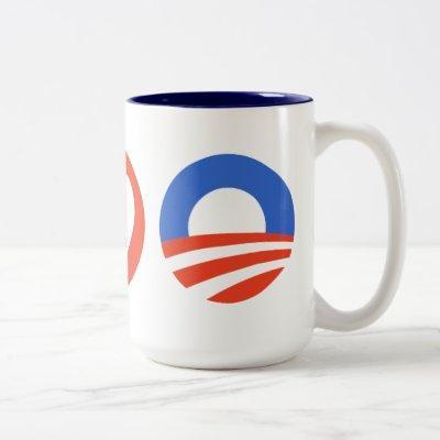 Peace Love Obama Two-Tone Coffee Mug