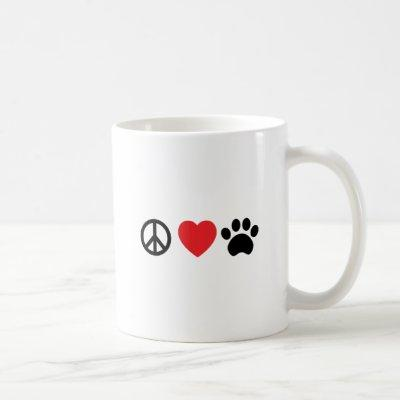 Peace Love Paw Coffee Mug