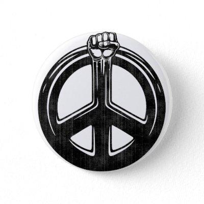 Peace Power! Button