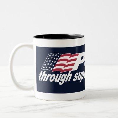 Peace through Superior Fire Power-Black Mug