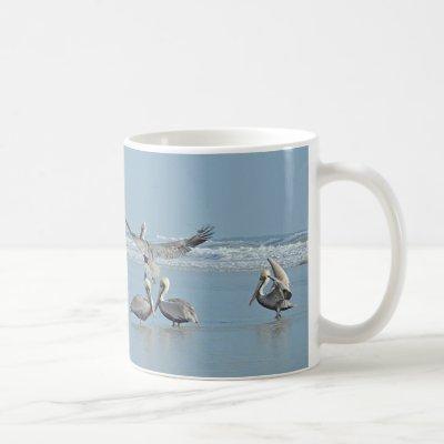 Pelicans on the Beach Coffee Mug