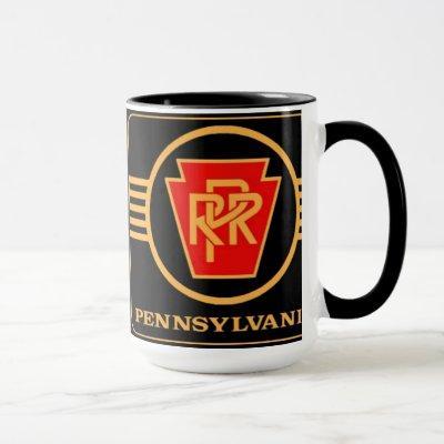 Pennsylvania Railroad Logo, Black & Gold Mug