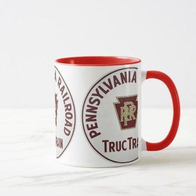 Pennsylvania Railroad TrucTrain Service Mug