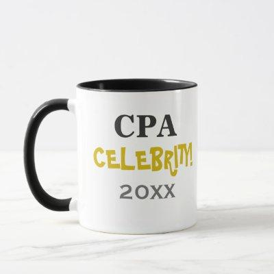 Personalisable Add My Name CPA Exam Pass Mug