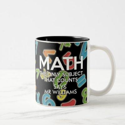 Personalised Math the only subject that counts Two-Tone Coffee Mug