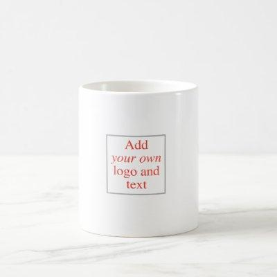 Personalize, Customize, Create Your Own, Template Coffee Mug