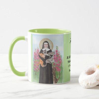 Personalize Patron Saint of Cats Gertrude Coffee Mug