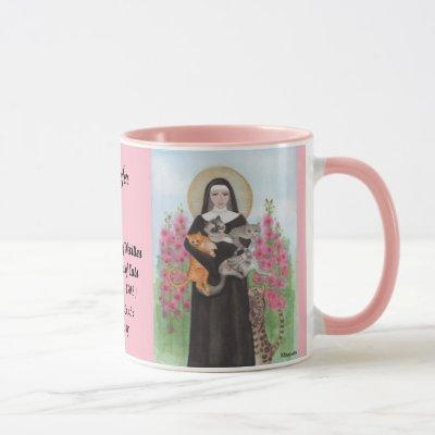 Personalize Patron Saint of Cats Gertrude Coffee Mug