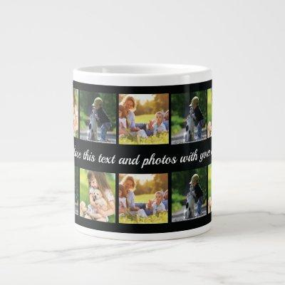 Personalize photo collage and text giant coffee mu giant coffee mug