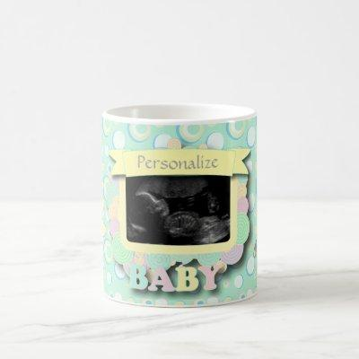 Personalize Sonogram Baby Keepsake Coffee Mug