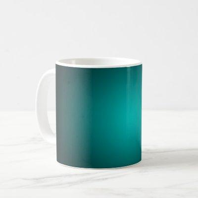 Personalize - Teal ombre gradient background Coffee Mug