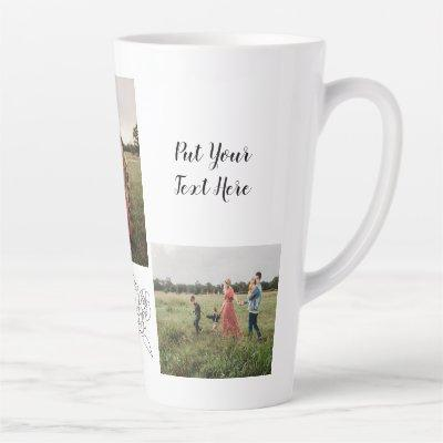 Personalized 3 Photo Coffee Mug