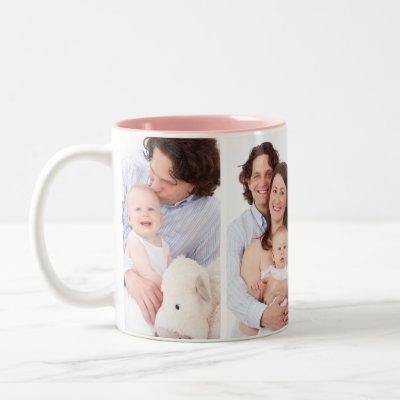 Personalized 4 Family Photo Collage Coffee Mug