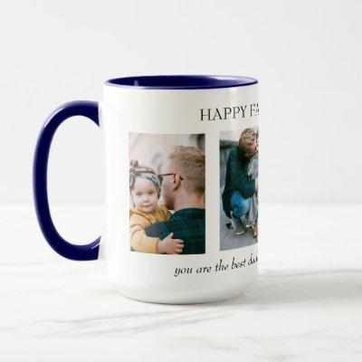 Personalized 4 Photo Collage Father's Day Gift Mug