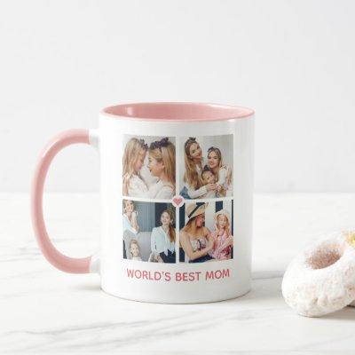 Personalized 8-photo 'World's Best Mom' Mug