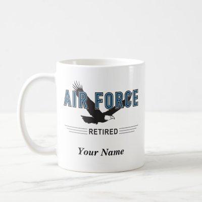 Personalized Air Force Retiree Mug